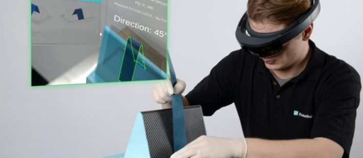 Fraunhofer IPT Augmented reality system for manufacturing FRP