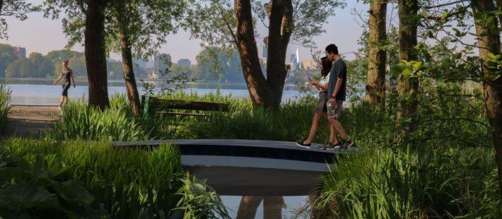 3D printed FRP footbridge
